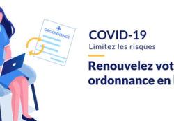 Envoi et renouvellement d'ordonnance maintenant disponible sur notre site internet